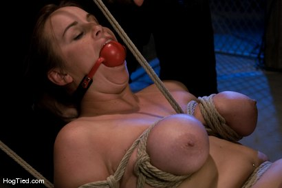 Photo number 7 from Hot Bella double teamed and made to slurp her own squirt shot for Hogtied on Kink.com. Featuring Bella Rossi in hardcore BDSM & Fetish porn.