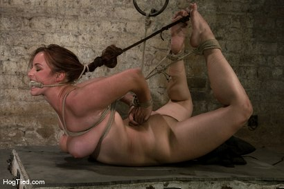 Photo number 9 from Hot Bella double teamed and made to slurp her own squirt shot for Hogtied on Kink.com. Featuring Bella Rossi in hardcore BDSM & Fetish porn.