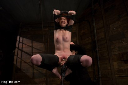 Photo number 8 from Horny girls also cum in small packages: Megan Murray shot for Hogtied on Kink.com. Featuring Megan Murray in hardcore BDSM & Fetish porn.