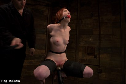 Photo number 5 from Horny girls also cum in small packages: Megan Murray shot for Hogtied on Kink.com. Featuring Megan Murray in hardcore BDSM & Fetish porn.