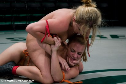 """Photo number 7 from Alexa Von Tess """"The Badger""""  (2-1) <br>vs<br>Kirra """"The Bull Dog"""" (0-1) shot for Ultimate Surrender on Kink.com. Featuring Kirra Lynne and Alexa Von Tess in hardcore BDSM & Fetish porn."""