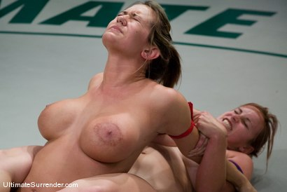 """Photo number 15 from  Trina Michaels """"Passion"""" (0-2)<br>vs<br>Bella  Rossi """"The Annihilator""""(0-0) shot for Ultimate Surrender on Kink.com. Featuring Trina Michaels and Bella Rossi in hardcore BDSM & Fetish porn."""
