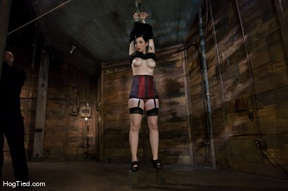 Photo number 1 from Sybil Hawthorne: Retro Beauty LOVES pain to get off shot for Hogtied on Kink.com. Featuring Sybil Hawthorne in hardcore BDSM & Fetish porn.