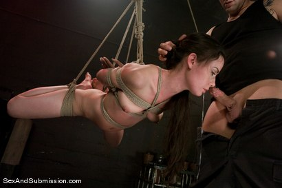 Photo number 4 from Eager to Please shot for Sex And Submission on Kink.com. Featuring Derrick Pierce and Mina Leigh in hardcore BDSM & Fetish porn.