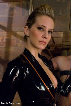 Photo number 1 from Maitresse Madeline and the boy shot for Men In Pain on Kink.com. Featuring Maitresse Madeline Marlowe  and Wolf Hudson in hardcore BDSM & Fetish porn.