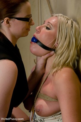 Photo number 3 from Krissy Leigh gets bound and fisted shot for Wired Pussy on Kink.com. Featuring Claire Adams and Krissy Leigh in hardcore BDSM & Fetish porn.