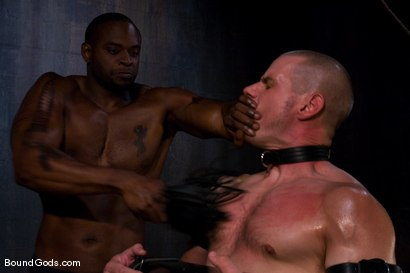 Photo number 5 from Master Diesel Washington and slave park wiley shot for Bound Gods on Kink.com. Featuring Park Wiley and Diesel Washington in hardcore BDSM & Fetish porn.