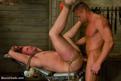 Photo number 9 from The POW shot for Bound Gods on Kink.com. Featuring Tyler Saint and Park Wiley in hardcore BDSM & Fetish porn.