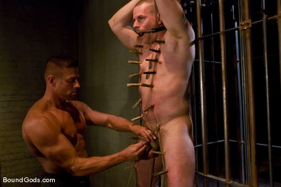 Photo number 6 from The POW shot for Bound Gods on Kink.com. Featuring Tyler Saint and Park Wiley in hardcore BDSM & Fetish porn.
