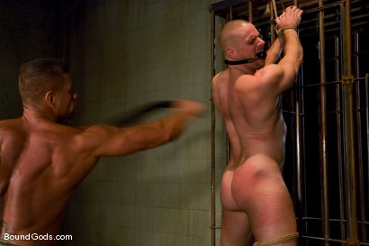 Photo number 8 from The POW shot for Bound Gods on Kink.com. Featuring Tyler Saint and Park Wiley in hardcore BDSM & Fetish porn.