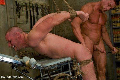 Photo number 11 from The POW shot for Bound Gods on Kink.com. Featuring Tyler Saint and Park Wiley in hardcore BDSM & Fetish porn.
