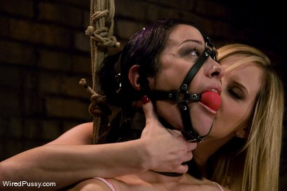 Photo number 2 from Maitresse Madeline makes her debut at Wiredpussy!!! shot for Wired Pussy on Kink.com. Featuring Maitresse Madeline Marlowe  and January Seraph in hardcore BDSM & Fetish porn.