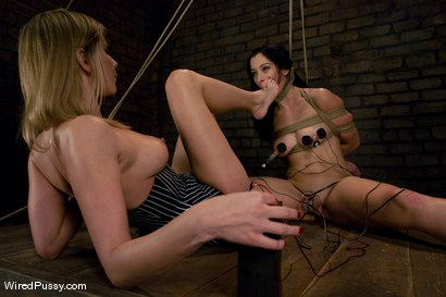 Photo number 7 from Maitresse Madeline makes her debut at Wiredpussy!!! shot for Wired Pussy on Kink.com. Featuring Maitresse Madeline Marlowe  and January Seraph in hardcore BDSM & Fetish porn.