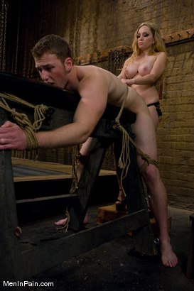 Photo number 8 from The Bigger They Come shot for Men In Pain on Kink.com. Featuring Alrik Angel and Aiden Starr in hardcore BDSM & Fetish porn.