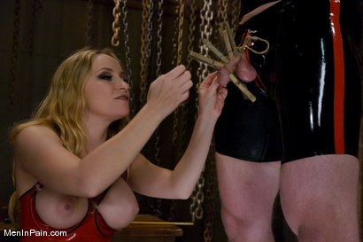 Photo number 3 from The Bigger They Come shot for Men In Pain on Kink.com. Featuring Alrik Angel and Aiden Starr in hardcore BDSM & Fetish porn.