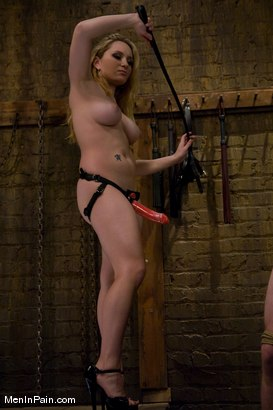Photo number 6 from The Bigger They Come shot for Men In Pain on Kink.com. Featuring Alrik Angel and Aiden Starr in hardcore BDSM & Fetish porn.