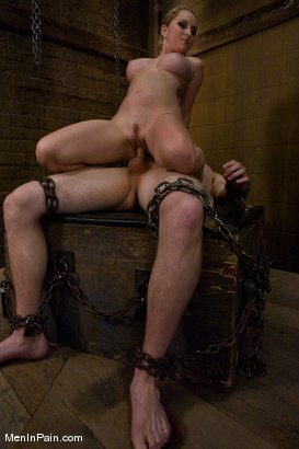 Photo number 9 from The Bigger They Come shot for Men In Pain on Kink.com. Featuring Alrik Angel and Aiden Starr in hardcore BDSM & Fetish porn.
