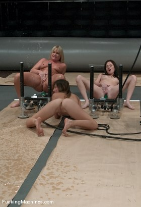 Photo number 8 from SQUIRT OLYMPICS -Flower Tucci, Sindee Jennings and rookie Vai shot for Fucking Machines on Kink.com. Featuring Vai, Sindee Jennings and Flower Tucci in hardcore BDSM & Fetish porn.