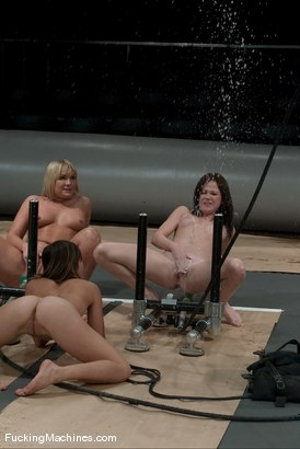 Photo number 9 from SQUIRT OLYMPICS -Flower Tucci, Sindee Jennings and rookie Vai shot for Fucking Machines on Kink.com. Featuring Vai, Sindee Jennings and Flower Tucci in hardcore BDSM & Fetish porn.