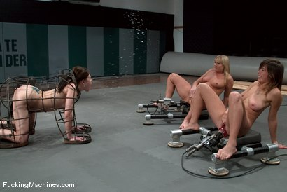 Photo number 10 from SQUIRT OLYMPICS -Flower Tucci, Sindee Jennings and rookie Vai shot for Fucking Machines on Kink.com. Featuring Vai, Sindee Jennings and Flower Tucci in hardcore BDSM & Fetish porn.