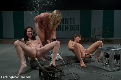 Photo number 6 from SQUIRT OLYMPICS -Flower Tucci, Sindee Jennings and rookie Vai shot for Fucking Machines on Kink.com. Featuring Vai, Sindee Jennings and Flower Tucci in hardcore BDSM & Fetish porn.