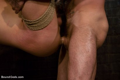 Photo number 13 from Slicked Master and the Golden Boy shot for Bound Gods on Kink.com. Featuring Nick Moretti and Luke Riley in hardcore BDSM & Fetish porn.