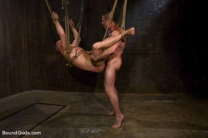 Photo number 14 from Slicked Master and the Golden Boy shot for Bound Gods on Kink.com. Featuring Nick Moretti and Luke Riley in hardcore BDSM & Fetish porn.