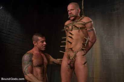 Photo number 9 from Slicked Master and the Golden Boy shot for Bound Gods on Kink.com. Featuring Nick Moretti and Luke Riley in hardcore BDSM & Fetish porn.