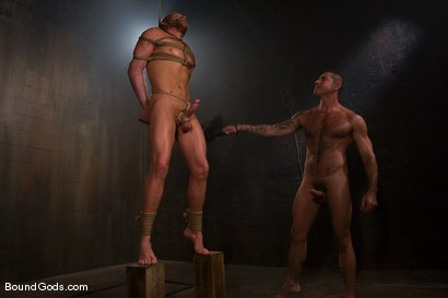 Photo number 7 from Slicked Master and the Golden Boy shot for Bound Gods on Kink.com. Featuring Nick Moretti and Luke Riley in hardcore BDSM & Fetish porn.