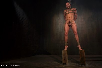 Photo number 5 from Slicked Master and the Golden Boy shot for Bound Gods on Kink.com. Featuring Nick Moretti and Luke Riley in hardcore BDSM & Fetish porn.