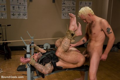 Photo number 14 from The Creepy Janitor and The Football Player shot for Bound Gods on Kink.com. Featuring Rod Barry and Dak Ramsey in hardcore BDSM & Fetish porn.