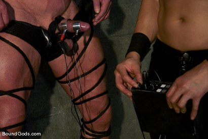 Photo number 2 from Derek Pain shot for Bound Gods on Kink.com. Featuring Derek Pain and Van Darkholme in hardcore BDSM & Fetish porn.