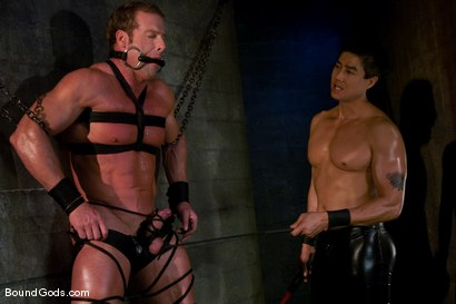 Photo number 1 from Derek Pain shot for Bound Gods on Kink.com. Featuring Derek Pain and Van Darkholme in hardcore BDSM & Fetish porn.