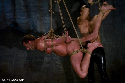 Photo number 9 from Derek Pain shot for Bound Gods on Kink.com. Featuring Derek Pain and Van Darkholme in hardcore BDSM & Fetish porn.