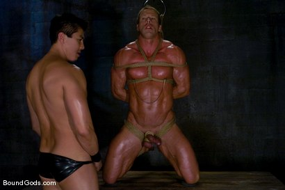 Photo number 5 from Derek Pain shot for Bound Gods on Kink.com. Featuring Derek Pain and Van Darkholme in hardcore BDSM & Fetish porn.