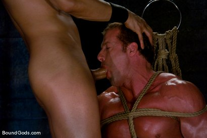 Photo number 8 from Derek Pain shot for Bound Gods on Kink.com. Featuring Derek Pain and Van Darkholme in hardcore BDSM & Fetish porn.