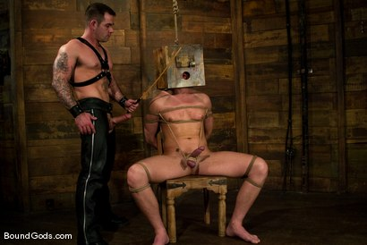 Photo number 6 from Please Hurt Me, Sir! shot for Bound Gods on Kink.com. Featuring Cayden Banks and Dak Ramsey in hardcore BDSM & Fetish porn.