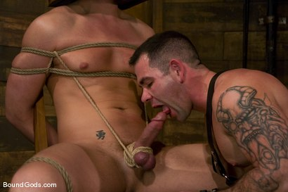 Photo number 8 from Please Hurt Me, Sir! shot for Bound Gods on Kink.com. Featuring Cayden Banks and Dak Ramsey in hardcore BDSM & Fetish porn.