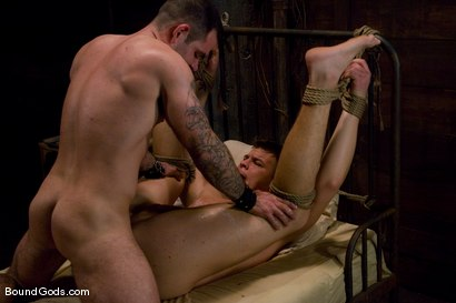 Photo number 14 from Please Hurt Me, Sir! shot for Bound Gods on Kink.com. Featuring Cayden Banks and Dak Ramsey in hardcore BDSM & Fetish porn.