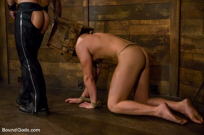 Photo number 9 from Please Hurt Me, Sir! shot for Bound Gods on Kink.com. Featuring Cayden Banks and Dak Ramsey in hardcore BDSM & Fetish porn.