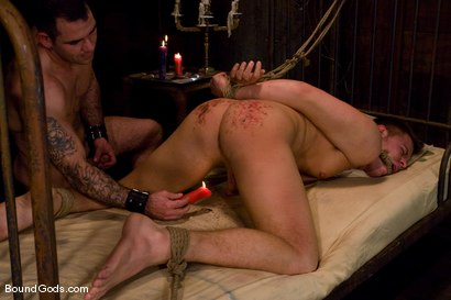 Photo number 11 from Please Hurt Me, Sir! shot for Bound Gods on Kink.com. Featuring Cayden Banks and Dak Ramsey in hardcore BDSM & Fetish porn.