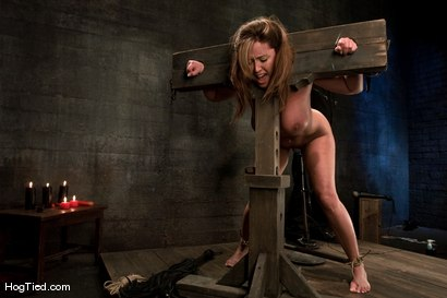 Photo number 10 from Christina Carter: NON STOP orgasmic shoot!  Need I say more? shot for Hogtied on Kink.com. Featuring Christina Carter in hardcore BDSM & Fetish porn.