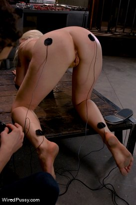 Photo number 7 from Electrical Demo Part 2: TENS Unit and Sticky Pads shot for Wired Pussy on Kink.com. Featuring Lorelei Lee in hardcore BDSM & Fetish porn.