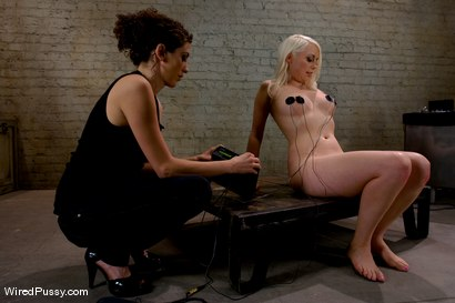 Photo number 12 from Electrical Demo Part 2: TENS Unit and Sticky Pads shot for Wired Pussy on Kink.com. Featuring Lorelei Lee in hardcore BDSM & Fetish porn.