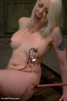 Photo number 2 from Electrical Demo Part 3: Learn how to play with electricity shot for Wired Pussy on Kink.com. Featuring Lorelei Lee in hardcore BDSM & Fetish porn.