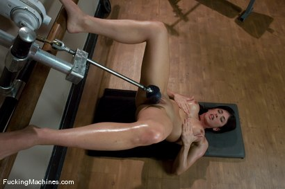 Photo number 11 from Pilates Instructor - Elyse stretches for the machines shot for Fucking Machines on Kink.com. Featuring Elyse in hardcore BDSM & Fetish porn.