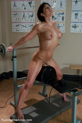 Photo number 6 from Pilates Instructor - Elyse stretches for the machines shot for Fucking Machines on Kink.com. Featuring Elyse in hardcore BDSM & Fetish porn.
