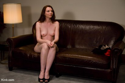 Photo number 1 from Casting Couch 5 Blue-Eyed Beauty Tied & Fucked shot for Hogtied on Kink.com. Featuring Amber Keen in hardcore BDSM & Fetish porn.