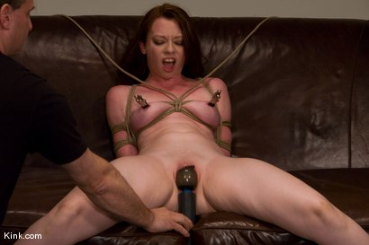 Photo number 10 from Casting Couch 5 Blue-Eyed Beauty Tied & Fucked shot for Hogtied on Kink.com. Featuring Amber Keen in hardcore BDSM & Fetish porn.