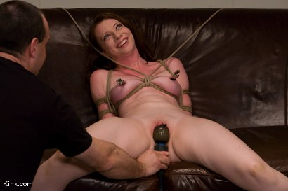 Photo number 11 from Casting Couch 5 Blue-Eyed Beauty Tied & Fucked shot for Hogtied on Kink.com. Featuring Amber Keen in hardcore BDSM & Fetish porn.